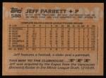 1988 Topps #588  Jeff Parrett  Back Thumbnail