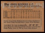 1988 Topps #727  Greg Booker  Back Thumbnail