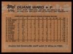 1988 Topps #696  Duane Ward  Back Thumbnail