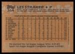 1988 Topps #264  Les Straker  Back Thumbnail