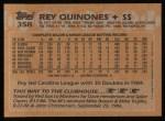 1988 Topps #358  Rey Quinones  Back Thumbnail