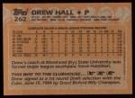 1988 Topps #262  Drew Hall  Back Thumbnail