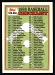 1988 Topps #646   Checklist 529 - 660 Front Thumbnail