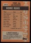 1988 Topps #393   -  Matt Nokes All-Star Back Thumbnail