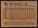 1988 Topps #720  Tim Raines  Back Thumbnail