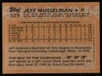 1988 Topps #229  Jeff Musselman  Back Thumbnail