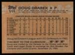 1988 Topps #591  Doug Drabek  Back Thumbnail