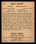 1941 Play Ball #11  Debs Gams  Back Thumbnail