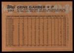 1988 Topps #597  Gene Garber  Back Thumbnail