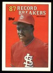 1988 Topps #1   -  Vince Coleman Record Breaker Front Thumbnail