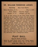 1941 Play Ball #59  Billy Jurges  Back Thumbnail