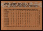 1988 Topps #216  Jerry Reuss  Back Thumbnail