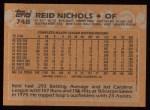 1988 Topps #748  Reid Nichols  Back Thumbnail