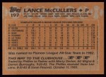 1988 Topps #197  Lance McCullers  Back Thumbnail