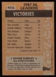 1988 Topps #406   -  Shane Rawley All-Star Back Thumbnail