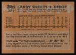 1988 Topps #327  Larry Sheets  Back Thumbnail