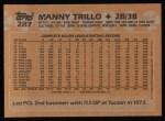 1988 Topps #287  Manny Trillo  Back Thumbnail