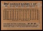 1988 Topps #35  Harold Baines  Back Thumbnail