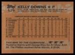 1988 Topps #629  Kelly Downs  Back Thumbnail