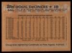 1988 Topps #446  Doug DeCinces  Back Thumbnail