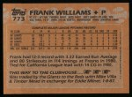 1988 Topps #773  Frank Williams  Back Thumbnail
