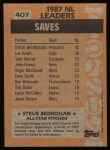 1988 Topps #407   -  Steve Bedrosian All-Star Back Thumbnail