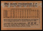 1988 Topps #552  Mark Thurmond  Back Thumbnail