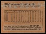 1988 Topps #115  Johnny Ray  Back Thumbnail