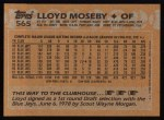 1988 Topps #565  Lloyd Moseby  Back Thumbnail