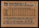 1988 Topps #670  Dan Plesac  Back Thumbnail