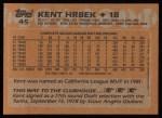 1988 Topps #45  Kent Hrbek  Back Thumbnail