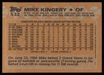 1988 Topps #532  Mike Kingery  Back Thumbnail
