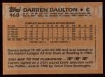 1988 Topps #468  Darren Daulton  Back Thumbnail