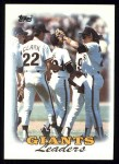 1988 Topps #261   Giants Leaders Front Thumbnail