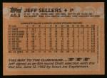 1988 Topps #653  Jeff Sellers  Back Thumbnail