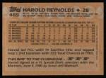 1988 Topps #485  Harold Reynolds  Back Thumbnail