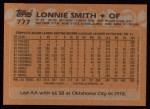 1988 Topps #777  Lonnie Smith  Back Thumbnail