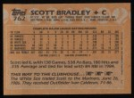 1988 Topps #762  Scott Bradley  Back Thumbnail