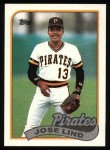1989 Topps #273  Jose Lind  Front Thumbnail