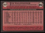 1989 Topps #467  Jim Walewander  Back Thumbnail