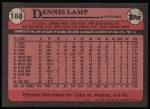 1989 Topps #188  Dennis Lamp  Back Thumbnail