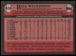 1989 Topps #636  Bill Wilkinson  Back Thumbnail