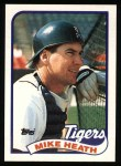 1989 Topps #743  Mike Heath  Front Thumbnail