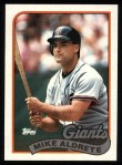 1989 Topps #158  Mike Aldrete  Front Thumbnail
