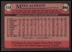 1989 Topps #158  Mike Aldrete  Back Thumbnail