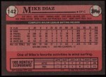 1989 Topps #142  Mike Diaz  Back Thumbnail