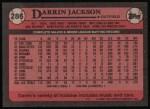 1989 Topps #286  Darrin Jackson  Back Thumbnail