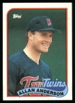 1989 Topps #672  Allan Anderson  Front Thumbnail