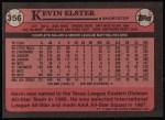 1989 Topps #356  Kevin Elster  Back Thumbnail
