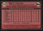 1989 Topps #747  Wil Tejada  Back Thumbnail